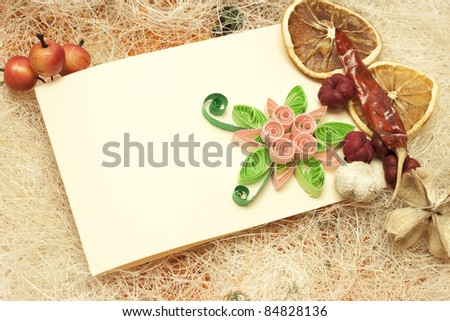 Design with invitation card and lemons