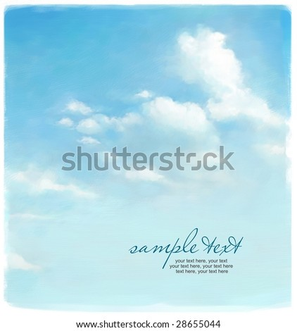 design with painted sky - stock photo