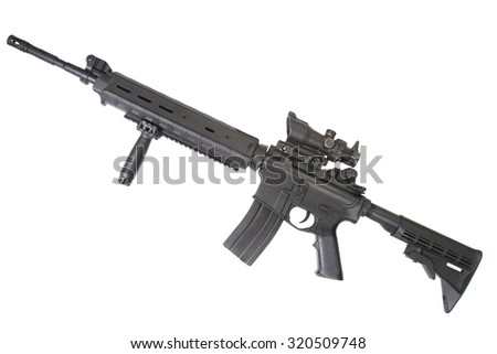 Designated marksmans rifle rifle isolated on a white background