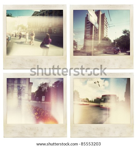 Designed abstract vintage instant photos.
