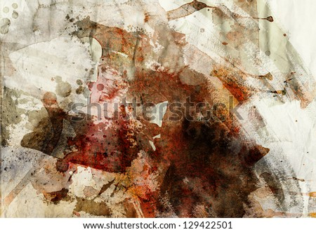 designed grunge paper texture - artistic painting background