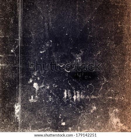 Designed medium format film background with heavy grain dust and scratches