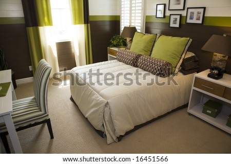 Designer Bedroom Furniture on Designer Bedroom With Contemporary Furniture And Decor  Stock Photo