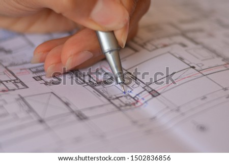 Designer hands working with project. Meeting forever. #1502836856