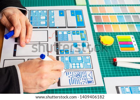 Mobile application interface design Images and Stock Photos - Avopix com