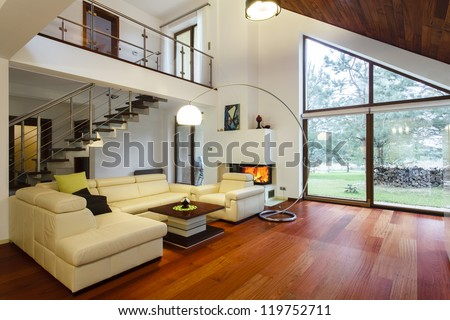 Designer's house with entresol and spacious living room #119752711