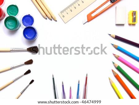 Designer tools isolated on white