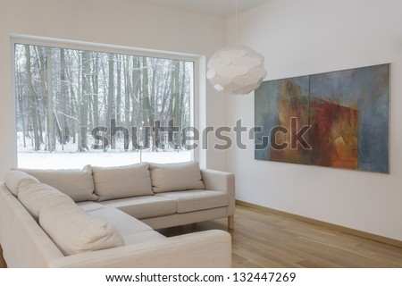 Designers interior - Living room with a painting