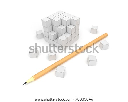 Designing. 3d an illustration, on a white background