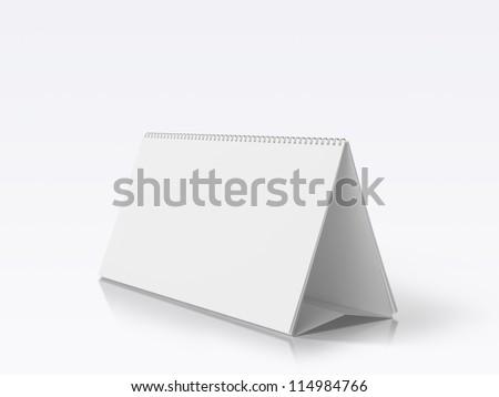 Desk Blank Calendar isolated on white