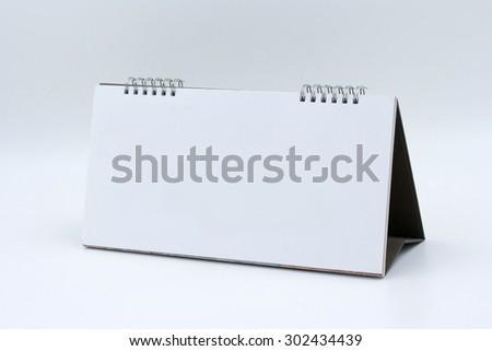 Desk Blank Calendar  on white background #302434439