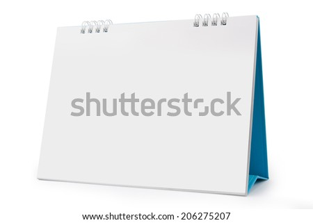 Desk Calendar, isolated on white,  file includes a excellent clipping path #206275207