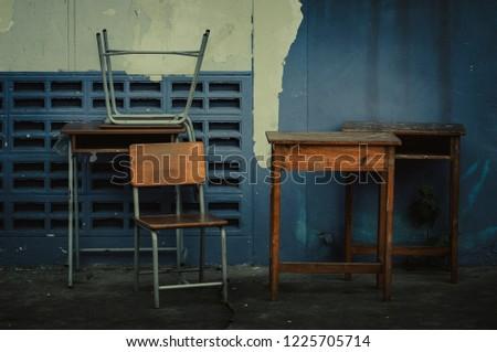 Desk childhood old-desk #1225705714