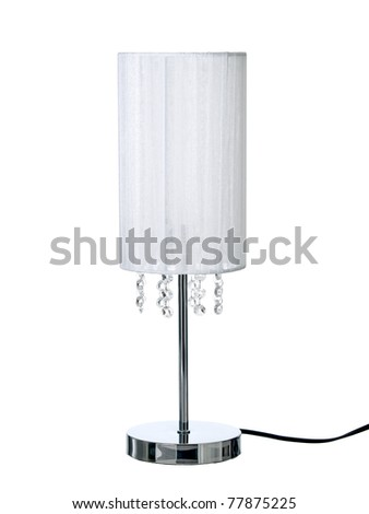 Desk lamp, isolated on a pure white background