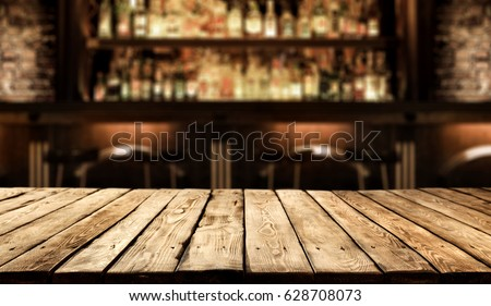 desk of free space in bar