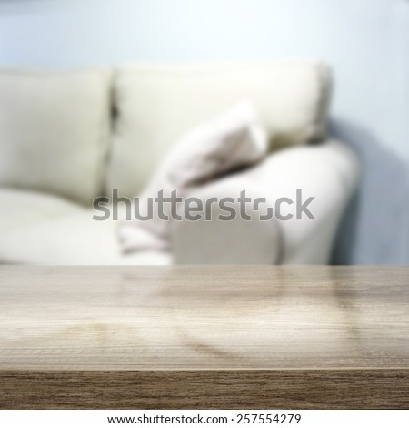 desk of gray color and sofa  #257554279