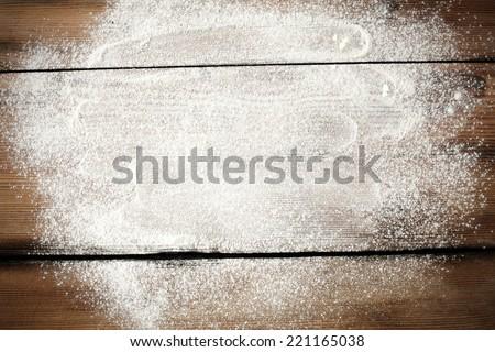 desk of white flour  Stock photo ©