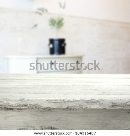 desk of white in home