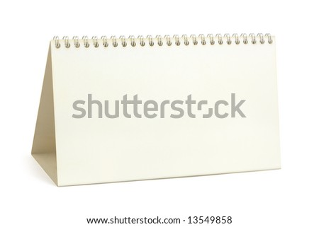 Desk paper calendar, isolated on white background