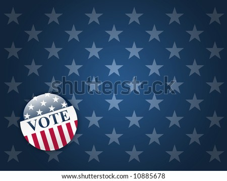 Desktop background with blue stars and vote button