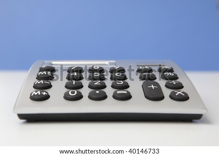 desktop calculator, closeup