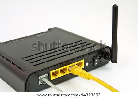 Desktop Home ADSL modem on a white background