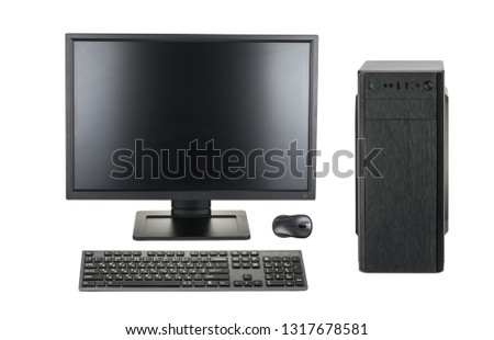 Desktop PC. Desktop computer isolated on a white background clipping path #1317678581