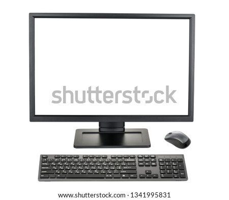 Desktop PC. Desktop computer isolated without shadow #1341995831