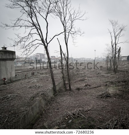 desolate landscape in italy artistic project