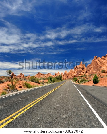 Desolate Road in Western United States