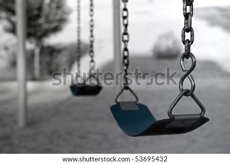 Desolate swing set