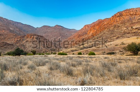 Desolation and beauty of Damaraland in Namibia.