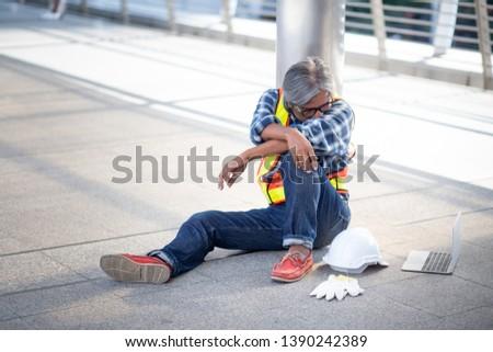 despaired Man | Tried Worker | Overworked Worker | laborer #1390242389