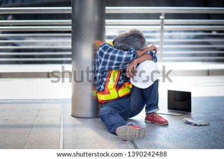 despaired Man | Tried Worker | Overworked Worker | laborer #1390242488