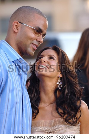 Desperate Housewives star EVA LONGORIA & boyfriend TONY PARKER at the Los Angeles premiere of The Dukes of Hazzard. July 28, 2005 Los Angeles, CA  2005 Paul Smith / Featureflash