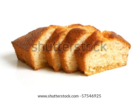 Dessert cake on a white background