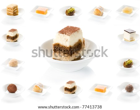 dessert, food, plate, cake, dish, chocolate, cheese, sweet