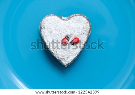 dessert in the shape of a heart Valentine's Day