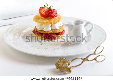 dessert on table