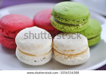 dessert or french dessert or french macaron dish #1056556388