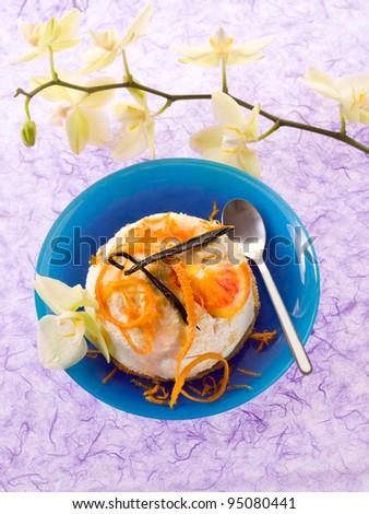 dessert ricotta with orange and vanilla