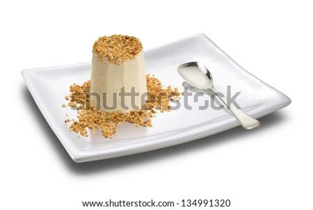 dessert with almonds - stock photo