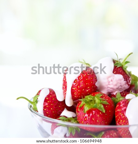 dessert with fresh strawberries