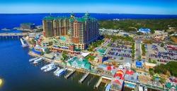 Destin, Florida. Aerial view of beautiful city skyline.