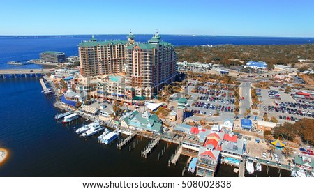 Destin, Florida. Aerial view of beautiful city skyline. #508002838