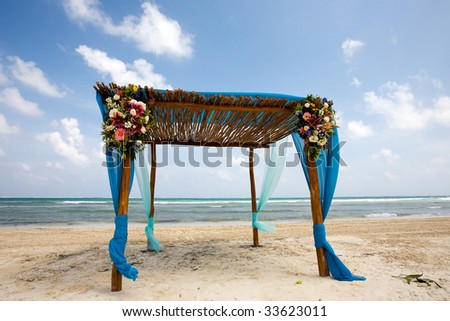 Destination wedding location on beach