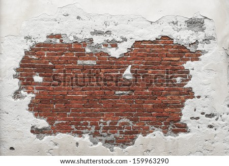 Destroyed Concrete and Brick wall in Italy