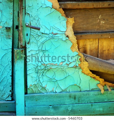 Destroyed door , very old