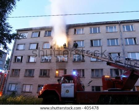 Destroyed flat