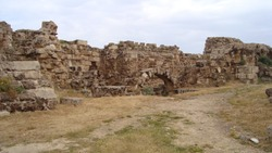Destroyed walls, antique ruines from Northern Cyprus